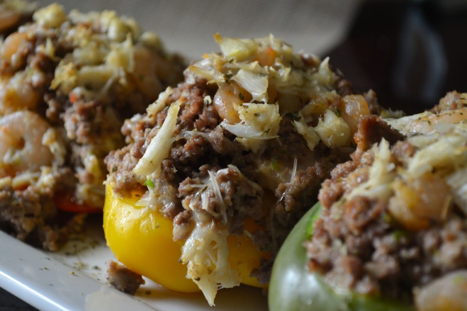 Seafood Stuffed Bell Peppers Coop Can Cook