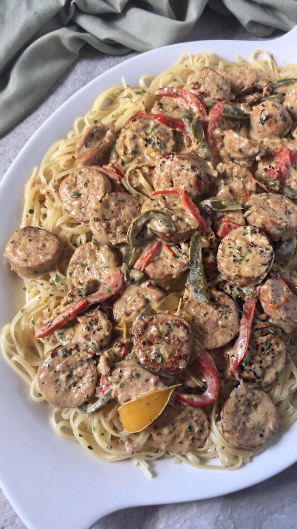 Sausage Peppers And Onions Linguine Coop Can Cook